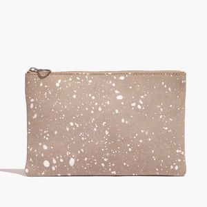 Madewell Leather Pouch Splatter Paint Edition NWT